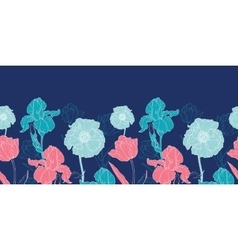 Night flowers seamless repeat pattern vector