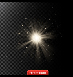 a glowing light effect with vector image vector image