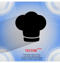 Chef cap cooking flat modern web button on a flat vector
