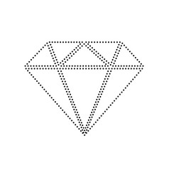 diamond sign black dotted vector image vector image