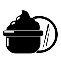 face cream icon simple black style vector image vector image