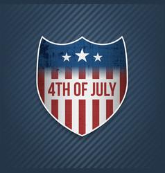 Fourth of july celebration banner vector
