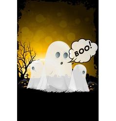 Grunge Halloween Card vector image
