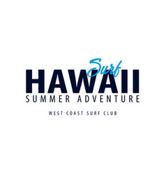 Hawaii surfing emblem or logo vector