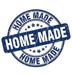 Home made blue grunge round vintage rubber stamp vector