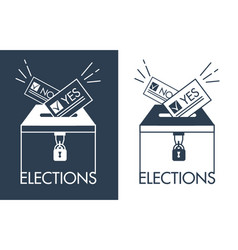 icons voting in linear style vector image