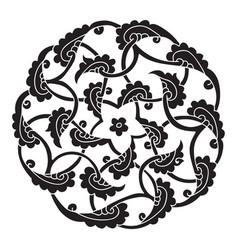 Iznik style pentagram design vector