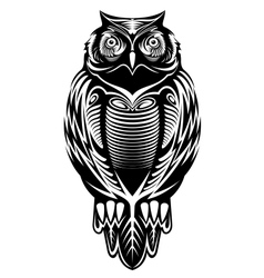 Majestic owl vector image vector image