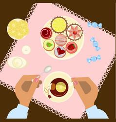 Menu for tea time vector