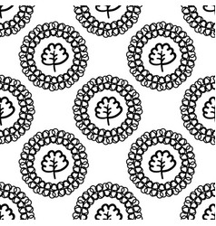 monochrome background with abstract plants vector image