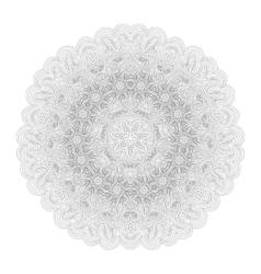 Monochrome mandala for your design vector image vector image