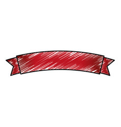 ribbon banner emblem vector image