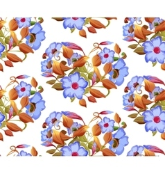 Seamless floral pattern with adenium watercolor vector image vector image