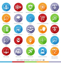SEO icons set 02F vector image vector image