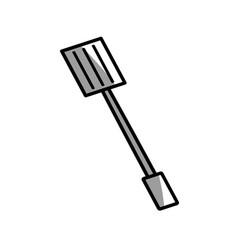 Spatula utensil picnic shadow vector