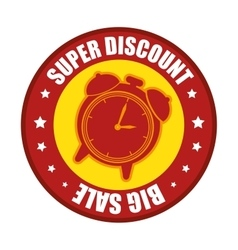 Super discount big sale clock label vector