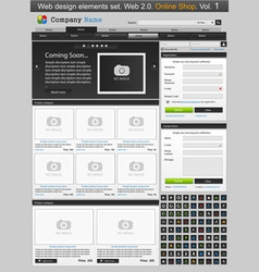 web store template vector image