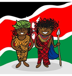 Welcome to Kenya people vector image
