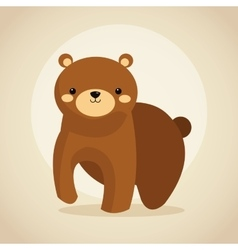 Bear cartoon icon woodland animal graphic vector
