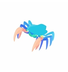 Cancer with large claws icon cartoon style vector