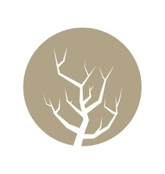 Tree branch hand drawing isolated icon vector