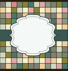 mosaic frame place for text invitation vector image