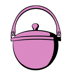 traditional cooking cauldron icon icon cartoon vector image