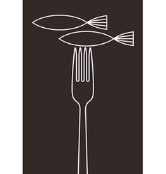 Fish restaurant menu card vector image