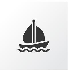 Boat icon symbol premium quality isolated sail vector