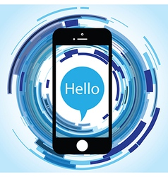 Hello phone abstract vector