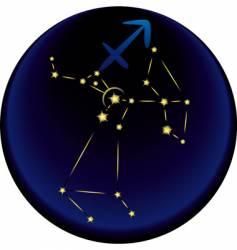 Zodiac Sagittarius sign vector image