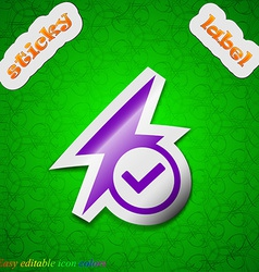 Photo flash icon sign symbol chic colored sticky vector
