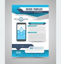 Template modern origami design vector