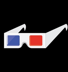 Cinema 3d glasses vector