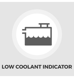 Low coolant indicator flat icon vector