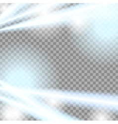 Abstract blue beams transparent background vector