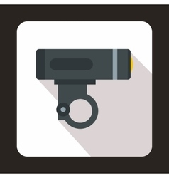 Bike light icon flat style vector