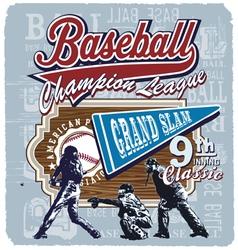 9th inning grandslam baseball vector