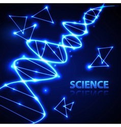 Abstact background neon dna chain vector