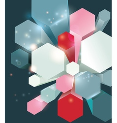 Abstract geometric shape from bright cells vector image