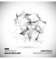 Abstract low poly geometric technology vector