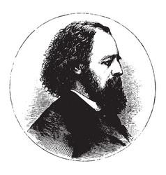 Alfred tennyson vintage vector