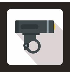 Bike light icon flat style vector image