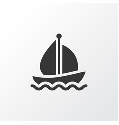 Boat icon symbol premium quality isolated sail vector