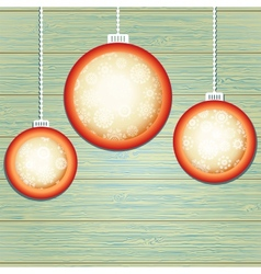 Christmas balls with place for copyspace EPS8 vector image vector image