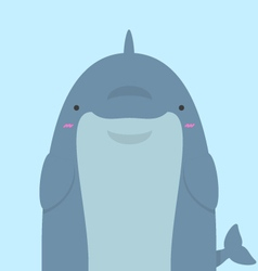 Cute big fat dolphin vector