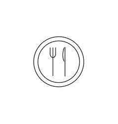 dish service line icon vector image