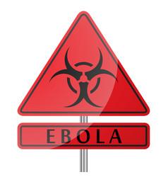 Ebola danger poster vector