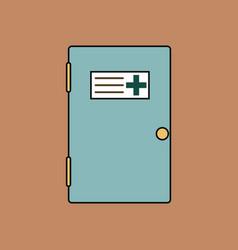 flat icon design collection doctors door vector image vector image
