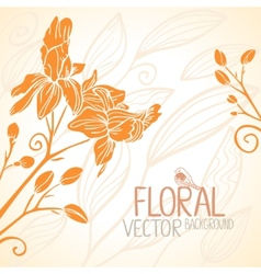 flowers orange vector image vector image